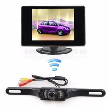 DIYKIT Wireless 3.5 inch TFT LCD Car Monitor Rear View Kit Reversing IR Camera Parking Assistance System