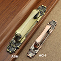 280mm european retro fashion antique brass wooden door handles antique copper unfold install gangway double acting door handles