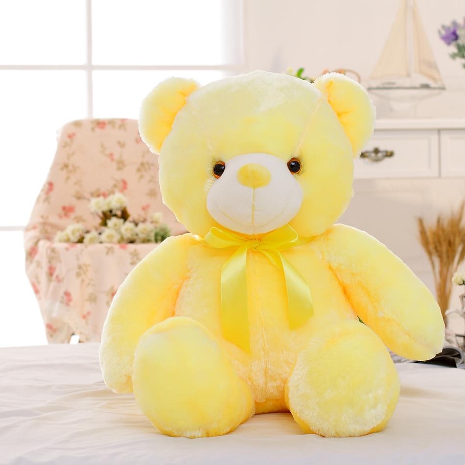 50cm White LED Light Up Teddy Bear Stuffed Animal Plush Doll Gift Toy for Girls