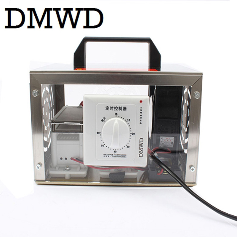 DMWD 20g Air Purifier Ozone Generator plate 20000mg/h Ozonator Portable Ozonizer Cleaner Sterilizer with Timing Switch 110V 220V 220v 10g h ozone generator air purifier machine ceramic plate sterilizer fan