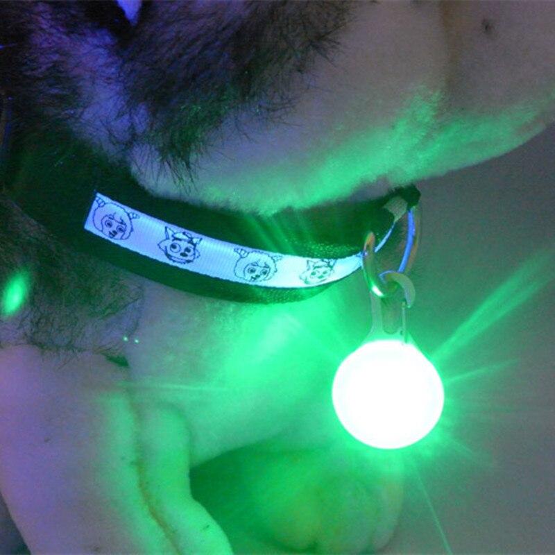 LED Pet Dog Collar Pendant Night Safety