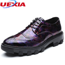 UEXIA Brogue Shoes Luxury Leather Dress Shoes Mens Increased Formal Breathable Comfortable Business Antiskid Formal Zapatill
