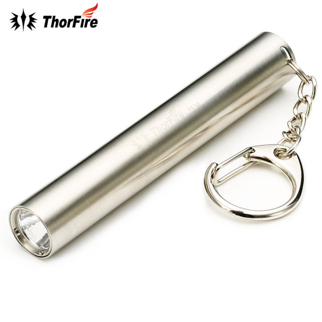 ThorFire TS3A Stainless Steel Mini LED Keychain Flashlight for Pocket Flash  Torch light Lamps by AAA battery For outdoor sports e6592ddc8b30
