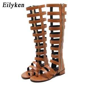 985db556d508b Eilyken Summer Gladiator Women Open Toe Flat Casual Sandals