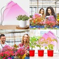Светодиодная лампа для выращивания растений в помещении  45 Вт 88 Светодиодная лампа для выращивания растений полный спектр  Регулируемая гу...