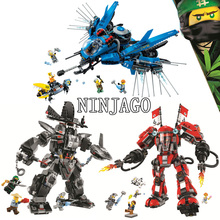 Bela Compatible legoe giftse Ninjago Movie 800 + pcs Garma Mecha Man The Fire Mech Lightning Jet Building Block 70613 70614 70615