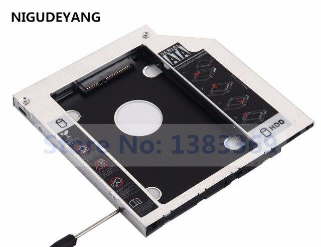 NIGUDEYANG 2nd HDD SSD Hard Drive Caddy Adapter for Asus n76vb K555L Q551LB  replace UJ8C2 UJ8HC DVD ODD