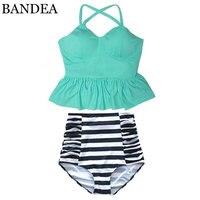BANDEA 2017 High Waist Swimsuit New Bikinis Women Push Up Bikini Set Swimwear Female Halter Beach