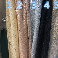 Beautiful Silver And Gold Collocation Beautiful Pattern Glittering Sequins India Extravagant Wedding Evening Dress Fabric