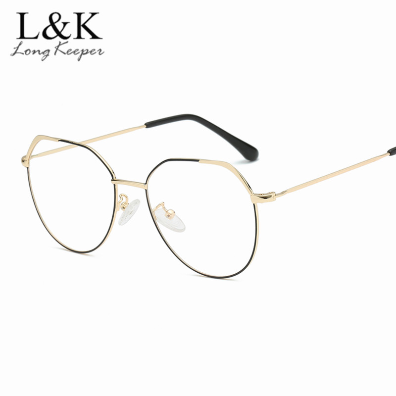 55c0fa84964 Vintage Style Women Men Popular Round Oval Metal Clear Lens Glasses Frame  Trendy Unisex Retro Optical Spectacles Eyeglass Frame-in Eyewear Frames  from ...