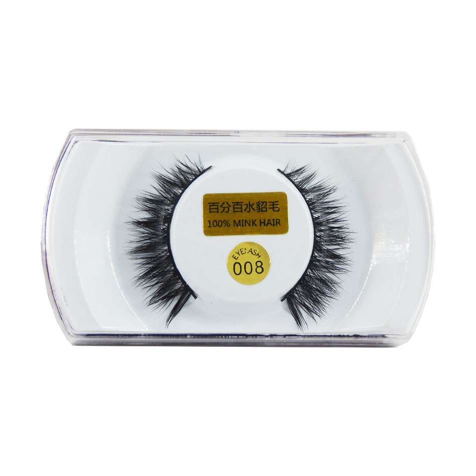 1 par de pestañas falsas de visón con alas hechas a mano populares super pestañas de alas largas para maquillaje de belleza-EMH008