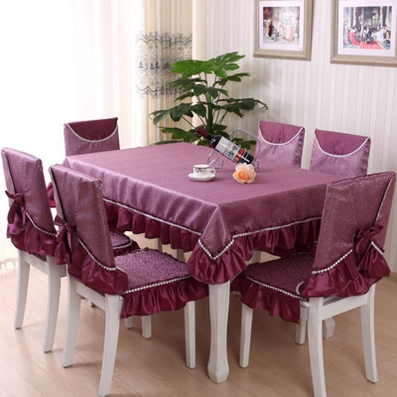 Tischdecke China Fuchsia Farbe Flanell Spitze Tischabdeckung - Haustextilien - Foto 5