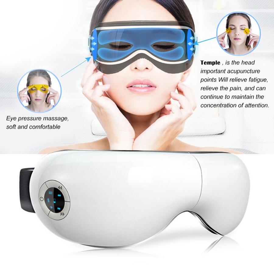 Inteligente Eye Massager da Pressão de Ar Shiatsu Massagem Aliviar A Fadiga Olhos SPA Relaxion Aquecimento Far-infrared Para Das Mulheres Dos Homens de Olho cuidados