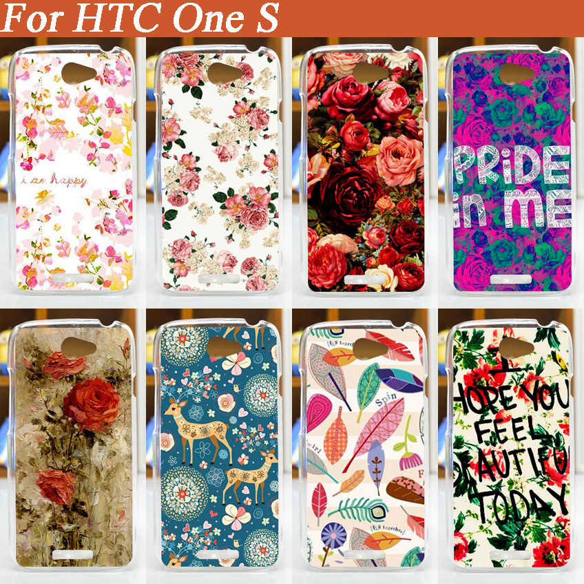 TOP Quality Pattern  3D Beautiful Flowers Design Hard Case Painting Cases For HTC One s Z520e Plasitc Hard Back Cover