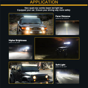 Image 5 - 10D Quad שורות 4   36 אינץ LED בר LED אור בר לרכב טרקטור סירת OffRoad מכביש 4WD 4x4 משאית SUV טרקטורונים נהיגה 12V 24V