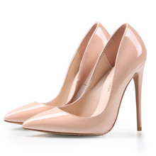 Brand Shoes Woman High Heels Pumps Nude High Heels 12CM Women Shoes High Heels Wedding Shoes Pumps Black Nude Shoes Heels B-0043