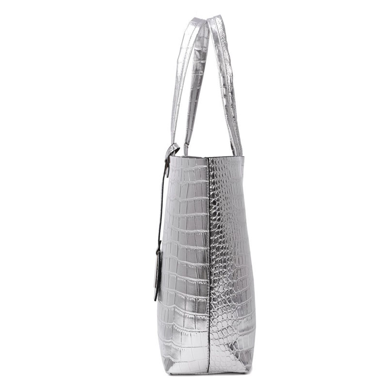 sacolas de compras bolsas mulheres Color : Gold/silver/champagne 3colors