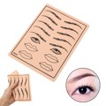 New 1PCs Professional Eyebrow Lips Pattern Tattoo Practice Skin Sheets 8x6'' Size High Quality Tattoos Training Tools
