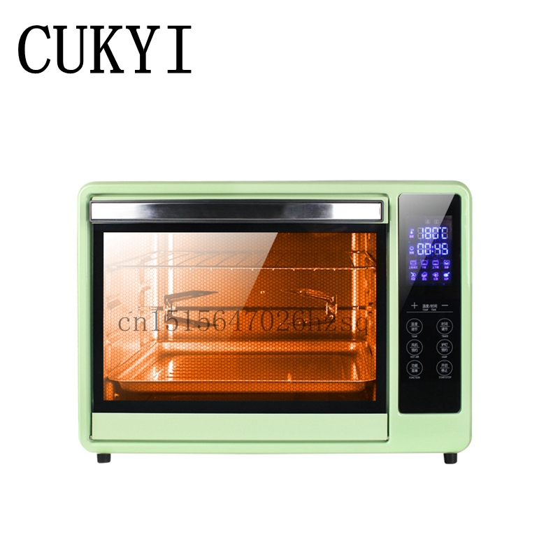CUKYI Intelligent Control Digital Ovens Electric Home Baking Oven multifunctional 30L Capacity ,green free shipping large electric oven home baking 38 liters capacity