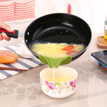 Кухонная креативная противоразливная Воронка силиконовая Слип-на для супа носик Воронка для горшков кастрюль и миски и банки кухонный гаджет инструмент