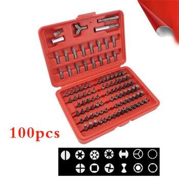 100 pieces Screwdriver  Multifunctional Opening Repair Tool Set Screwdriver Set plum hex head set Repair Hand Home Tools Bit