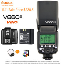 Godox V860II-S TTL Speedlite HSS GN60 2,4G Wireless Li-Ion Batterie-Licht + X1T-S Flash Trigger Sender für Sony kamera