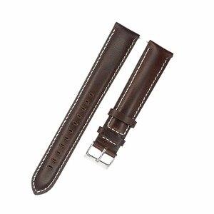 Image 5 - Correa de reloj de cuero genuino italiano, banda de reloj de 18mm, 20mm, 22mm y 24mm, correa de reloj negra y marrón claro, Correa Extra larga para muñeca grande