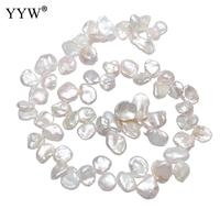 9 16mm Natural Cultured Baroque Freshwater Pearl Beads Nuggets Pearl Beads For Bracelets Necklace Diy Jewelry Making 15'' Strand