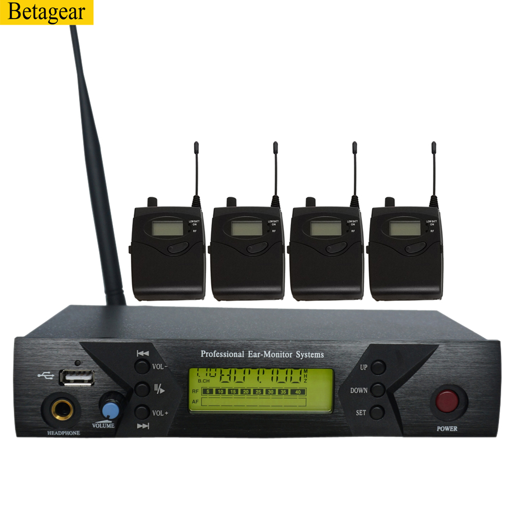 Betagear BK510 MONO <font><b>in</b></font> ohr <font><b>monitor</b></font> system <font><b>professional</b></font> bühne audio wireless mic recevier uhf IEM 798-830 MHz wireless system image
