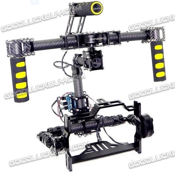 3 Axis Brushless 3K Full Carbon Fiber DSLR Handheld Gimbal DSLR Camera Mount Stablizer Without controller motors