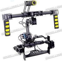 3 Axis Brushless 3K Full Carbon Fiber DSLR Handheld Gimbal DSLR Camera Mount Stablizer Without controller motors
