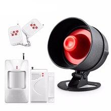 Сигнальная сирена 110 дБ, Пассивный инфракрасный датчик движения, громкий динамик, система сигнализации для домашней охранной безопасности