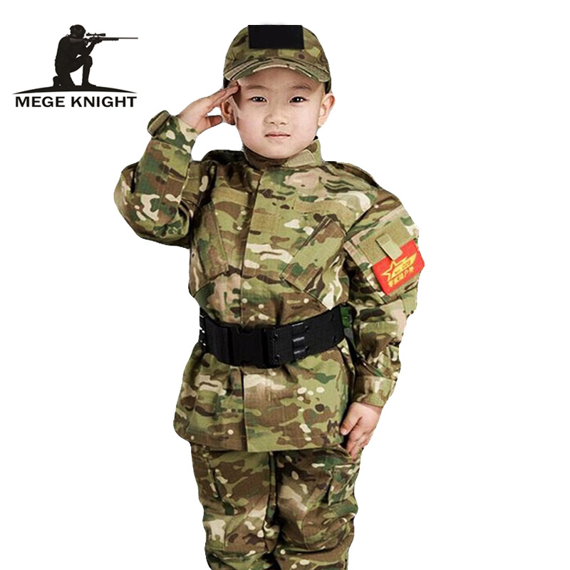 Kids Airsoft Military Tactical Uniform Sets Teenager Army Clothing Autumn Winter Army Jacket Clothing For Child