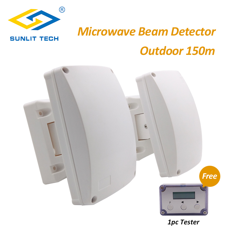 Détecteur d'intrusion de détecteur de mouvement étanche à faisceau infrarouge à double micro-ondes système de capteur de mur extérieur automatique pour la sécurité à la maison
