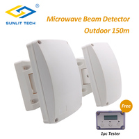 Dual Microwave Infrared Beam Waterproof Motion Sensor Intrusion Detector Automatic Outdoor Wall Sensor System for Home Security