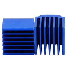 10pcs 3D Printer Parts Blue Aluminum Stepper Driver Heatsink For TMC2100 LV8729 TMC2208 TMC2130