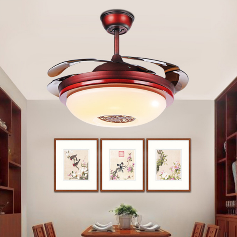 AC Traditional Chinese Tradotional Ceiling Fan Light ...