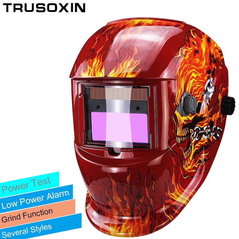 Solar+Li battery automatic darkening/shading TIG MIG MMA welding helmets/welder goggles/weld mask/caps free shipping Price $43.09