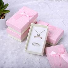Коробочка для ожерелья серег с бантом 6 цветов 10 шт/лот