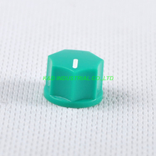 все цены на 10pcs Colorful Green Rotary Control Plastic Potentiometer Knob Guitar Knurled Shaft Hole онлайн