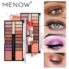 MENOW Professional Eye Shadow Makeup Palette Waterproof Eyeshadow Shiny Matte Shadow Palette Cosmetic Women Beauty Maquiagem eye shadow palette cream best makeup women eyeshadow