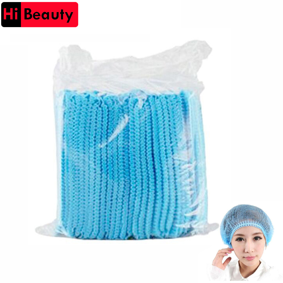 Reasonable 10pcs Disposable Women Men Eyebrow Tattoo Anti Dust Sterile Hat Pleated Elastic Mesh Shape Non-woven Bath Hat Makeup Supplies Fixing Prices According To Quality Of Products Home & Garden