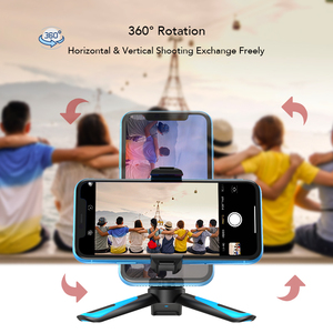 Image 3 - APEXEL 360 Rotation Camera Tripod Portable Stretch Handheld Tripod With Bluetooth Mobile Phone Clip For Gopro xiaomi iPhone