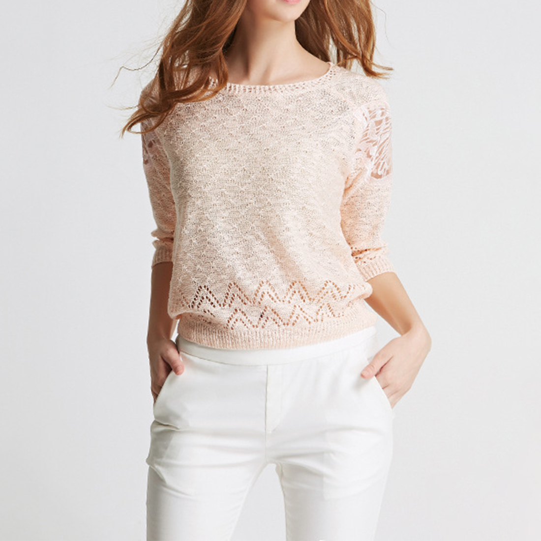 2018 Spring Women Blouse Shirt Winter Lace Hollow Out Sexy Blusas Peplum pink Tops Lace Blouse Long Sleeve chemise