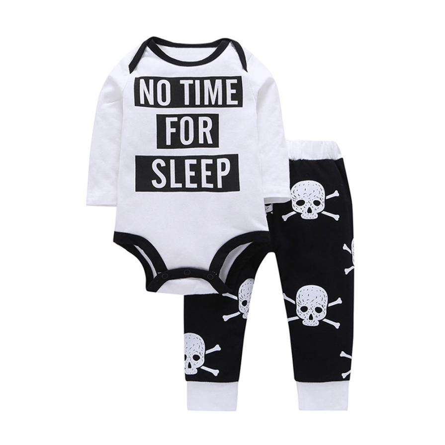 d3193363c Newborn Boys Girls Baby Clothes Sets Jumpers Toddler Fall Skull ...