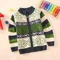 NUEVO Envío Libre de los niños ropa suéter niño rebeca de los niños 80% jersey de algodón prendas de vestir exteriores engrosamiento chaqueta de bebé