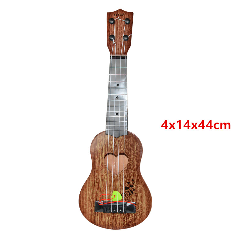 Mini Ukulele Cute Simulation Guitar Baby Kids Musical Toy Instruments Children Pretend Play Game Music Interest Development Toy