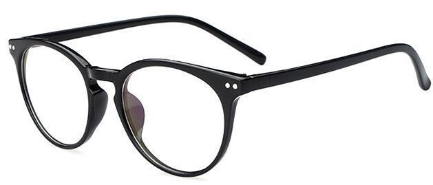 2019 Fashion Men Glasses Frame Women Black  Eyeglasses Frame Vintage Round Clear Lens Glasses Optical Spectacle Frame