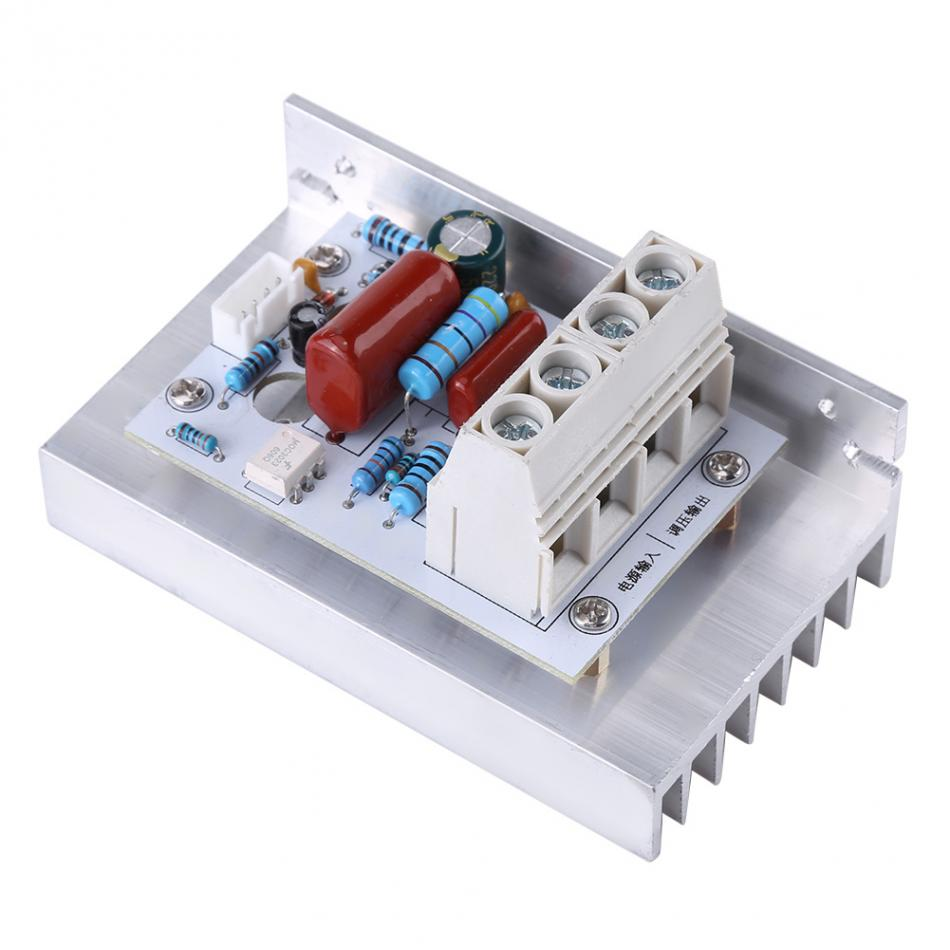 10000w Scr Digital Voltage Regulator Speed Control Dimmer Thermostat Electric Rice Cooker Automatic Controller Circuit Controlcircuit 1 X Abs Panel Sticker Cable