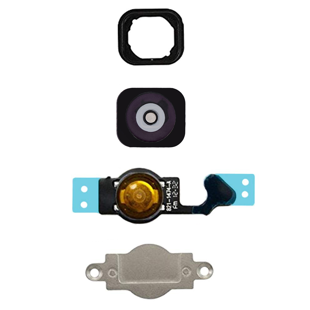 For IPhone 5 5c Home Button Replacement Key Cap + Flex Cable + Rubber Gasket + Metal Piece